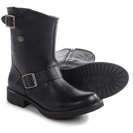 Harley Davidson Halsey Harness Motorcycle Boots Round Toe, 9 (For Women)