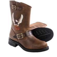Harley-Davidson Jerry Motorcycle Boots - Leather (For Men) in Brown - Closeouts