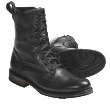 Harley-Davidson Merle Lace-Up Boots - Leather (For Men) in Black - Closeouts