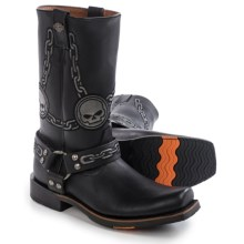 "Harley-Davidson Ridgeland Motorcycle Boots - 13"", Leather (For Men) in Black - Closeouts"