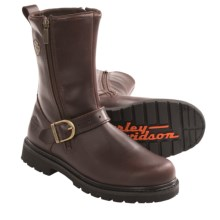 """Harley-Davidson Ryan Motorcycle Boots - Leather, 10"""" (For Men) in Brown - Closeouts"""