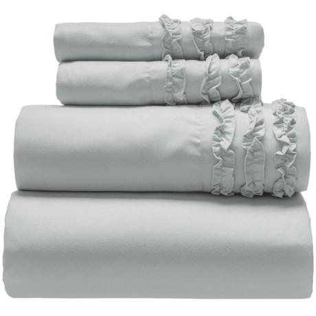 Harlow Ruffled Sheet Set - King in Dark Grey