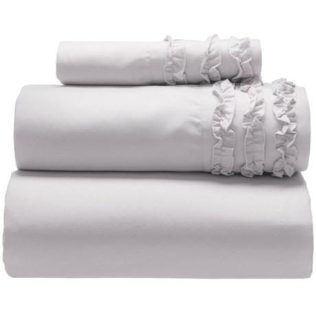Harlow Ruffled Sheet Set - Twin in Grey