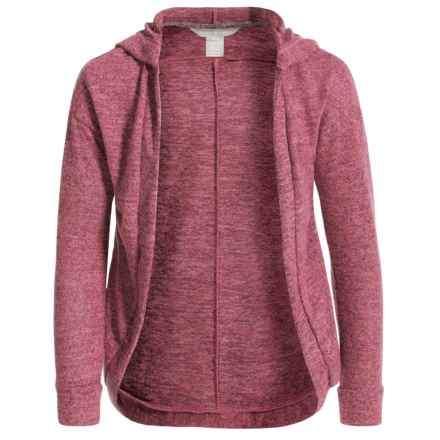 Harmony and Balance Cocoon Wrap Cardigan Sweater (For Little and Big Girls) in Dusty Rose - Closeouts