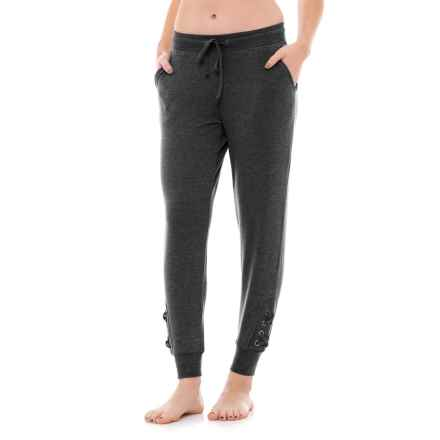 Harmony and Balance Drawstring Joggers (For Women) in Charcoal - Closeouts