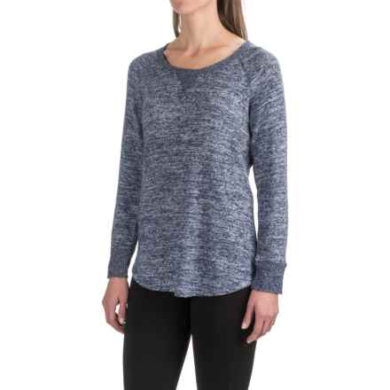 Harmony and Balance Hacci Knit Brushed Shirt - Scoop Neck, Long Sleeve (For Women) in New Navy Combo - Closeouts