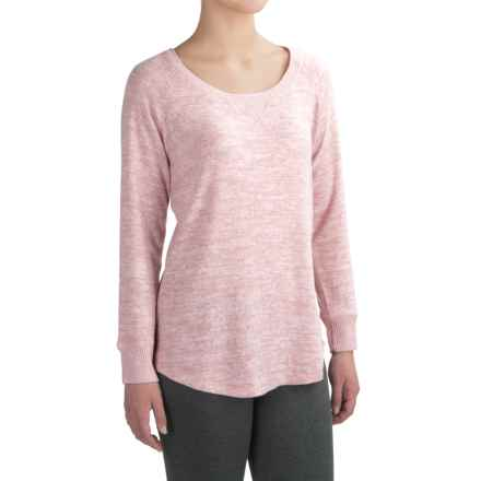 Harmony and Balance Hacci Knit Brushed Shirt - Scoop Neck, Long Sleeve (For Women) in Pink Rose - Closeouts