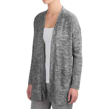 Harmony and Balance Hacci Tulip Back Cardigan Sweater - Open Front (For Women) in Grey Comb - Closeouts