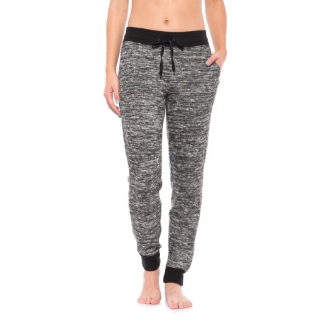 Harmony and Balance Marled Hacci Joggers (For Women) in Black/White Combo