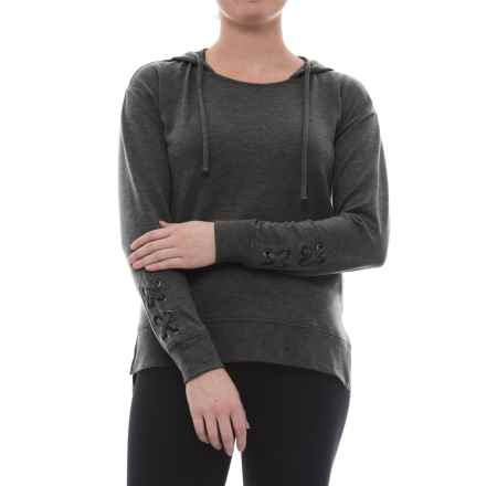 Harmony and Balance Missy Hoodie Shirt - Long Sleeve (For Women) in Charcoal - Closeouts