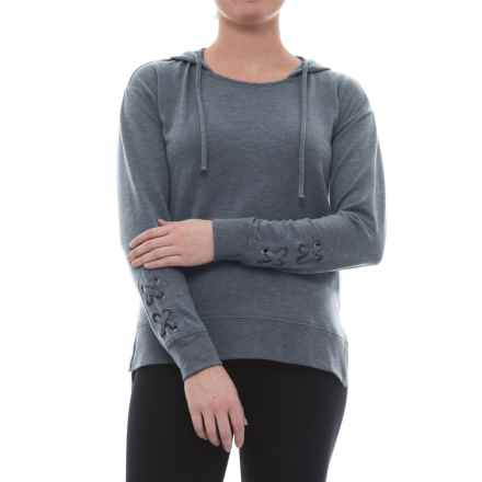Harmony and Balance Missy Hoodie Shirt - Long Sleeve (For Women) in Slate Blue - Closeouts