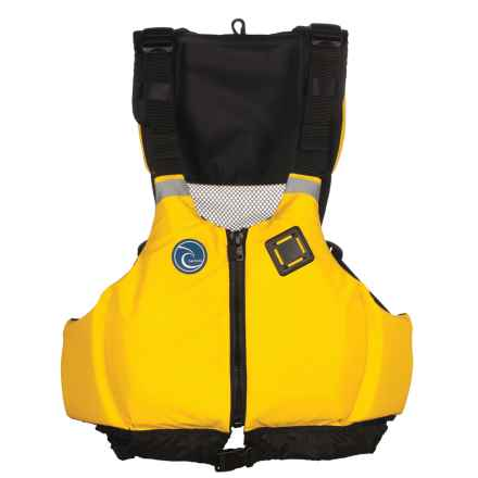 Harmony Kickback Type III PFD Life Jacket (For Men and Women) in Yellow - Closeouts