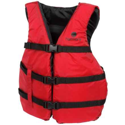 Harmony Universal Fit Type III PFD Life Jacket (For Men and Women) in Red - Closeouts