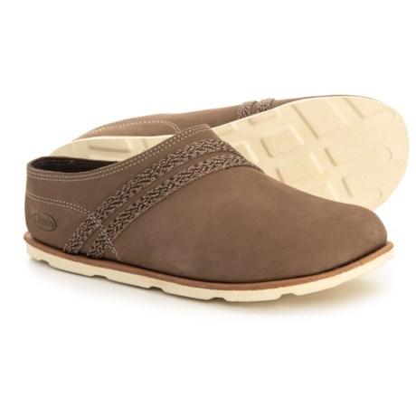 Harper Slide Shoes - Leather (For Women) - CARIBOU (7 )