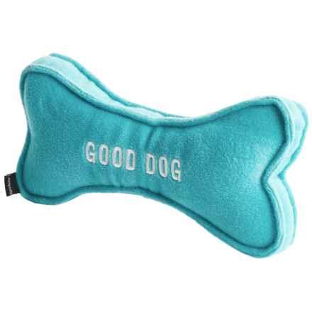 Harry Barker Bowtie Bone Stuffed Dog Toy - Large in Aqua - Closeouts