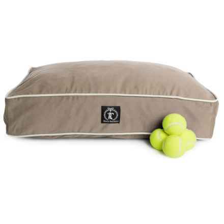 """Harry Barker Bull Denim Rectangle Dog Bed - Small, 26x20"""" in Tan - Closeouts"""