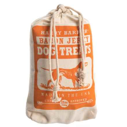 Harry Barker Camper Bacon Jerky Dog Treats with Canvas Bag in Orange - Closeouts