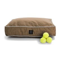 """Harry Barker Classic Canvas Rectangle Dog Bed - Small, 26x20"""" in Brown - Closeouts"""