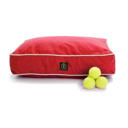 """Harry Barker Classic Canvas Rectangle Dog Bed - Small, 26x20"""" in Red - Closeouts"""