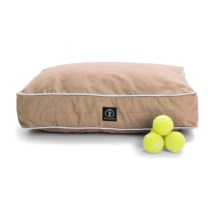 """Harry Barker Classic Canvas Rectangle Dog Bed - Small, 26x20"""" in Tan - Closeouts"""