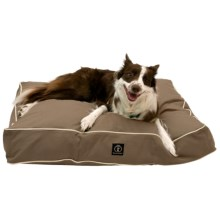"Harry Barker Classic Solid Rectangle Dog Bed - Medium, 36x29"" in Brown - Closeouts"