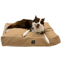 """Harry Barker Classic Solid Rectangle Dog Bed - Medium, 36x29"""" in Tan - Closeouts"""