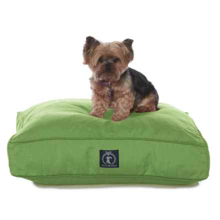 "Harry Barker Classic Solid Rectangle Small Dog Bed - 26x20"" in Green - Closeouts"