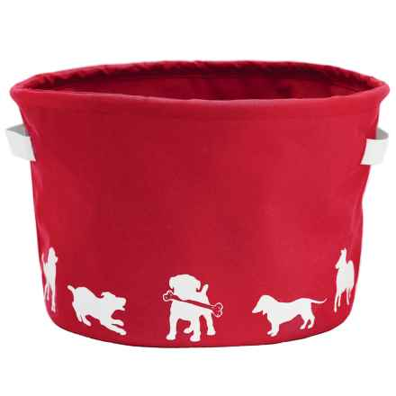 Harry Barker Eco Dog Toy Storage Bin in Red - Closeouts