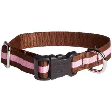 Harry Barker Eton Dog Collar - Recycled PET in Eton Brown/Pink - Closeouts