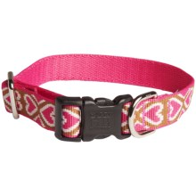 Harry Barker Eton Dog Collar - Recycled PET in Puppy Love Pink/Brown - Closeouts