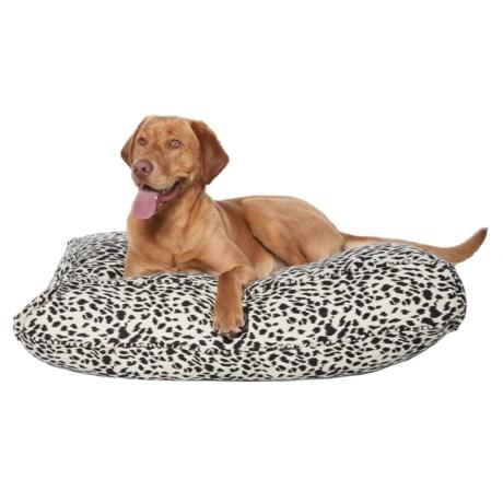 "Harry Barker Safari Solid Rectangle Dog Bed - 36x29"" in Black Leopard"