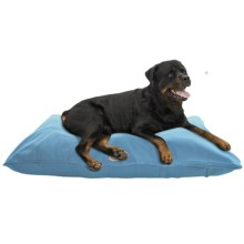 """Harry Barker Solid Canvas Envelope Dog Bed - Large, 44x36"""" in Blue - Closeouts"""
