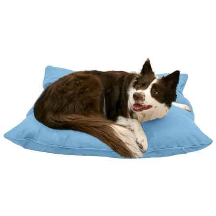 """Harry Barker Solid Canvas Envelope Dog Bed - Medium, 36x30"""" in Blue - Closeouts"""