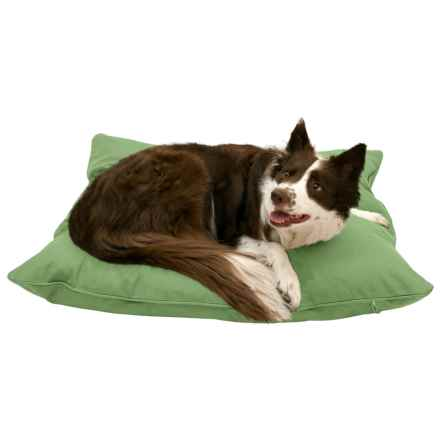 """Harry Barker Solid Canvas Envelope Dog Bed - Medium, 36x30"""" in Green - Closeouts"""