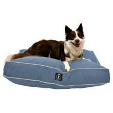 """Harry Barker Solid Rectangle Dog Bed - Medium, 36x29"""" in Slate Blue - Closeouts"""