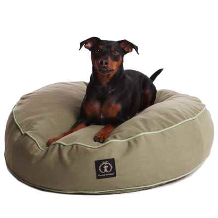"""Harry Barker Solid Round Dog Bed - Small, 25"""" in Brown - Closeouts"""