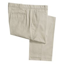 Hart, Schaffner & Marx American Classic Trouser Pants - Flat Front, Twill (For Men) in Stone - Closeouts