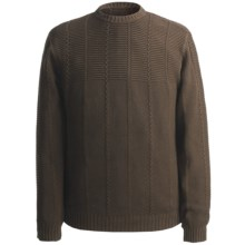 Hart, Schaffner & Marx Mixed Cable Sweater - Cotton (For Men) in Brown - Closeouts