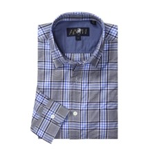 Hart, Schaffner & Marx Plaid Sport Shirt - Long Sleeve (For Men) in Grey/Navy - Closeouts