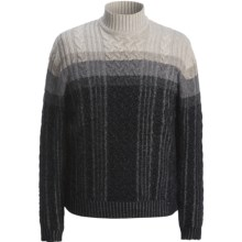 Hart, Schaffner & Marx Plaited Cable Sweater (For Men) in Charcoal - Closeouts