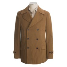 Hart, Schaffner & Marx Twill Pea Coat - Cotton (For Men) in Dark Tan - Closeouts