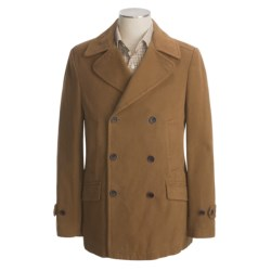 Hart, Schaffner & Marx Twill Pea Coat - Cotton (For Men) in Dark Tan