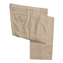 Hart Schaffner Marx American Classic Pleated Trouser Pants - Twill (For Men) in Khaki - Closeouts