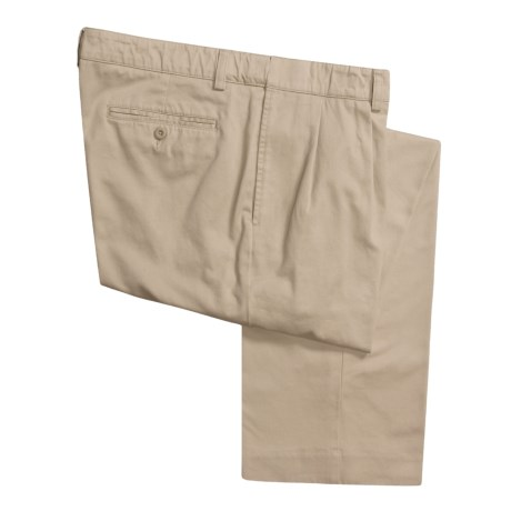 Hart Schaffner Marx American Classic Pleated Trouser Pants - Twill (For Men) in Khaki