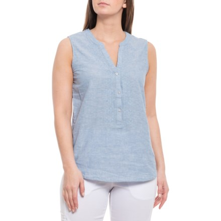 f3b16e80298bdf Harve Benard Blue Open-Weave Tank Top - V-Neck (For Women)