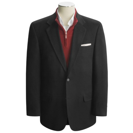 Haspel Camel Hair Sport Coat (For Men) in Black