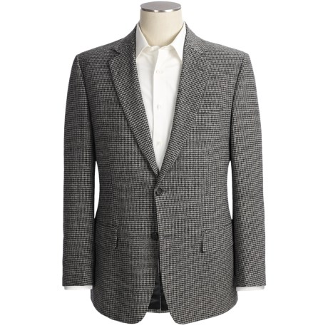 Haspel Houndstooth Sport Coat - Camel Hair (For Men) in Black/White