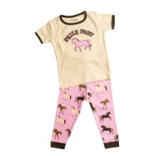 Hatley Animal Pajamas - Short Sleeve (For Infants) in Desert Horses - Closeouts