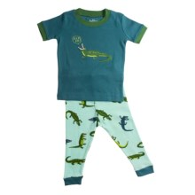 Hatley Animal Pajamas - Short Sleeve (For Infants) in Later Alligator - Closeouts