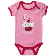 Hatley Applique Baby Bodysuit - Short Sleeve (For Infants) in C Is For Cupcake - Closeouts